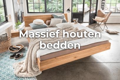 Massief Houten Bed 160x200.Massief Houten Bedden