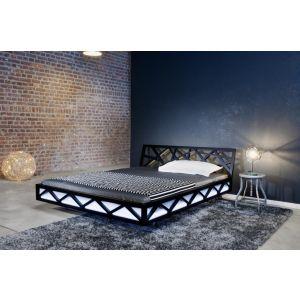 Design bed Nest in massief geolied hout van Luna