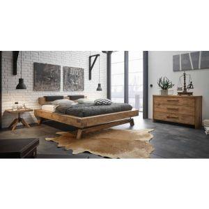 Eiken houten bed Bloc uit de Oak-Vintage serie van Hasena