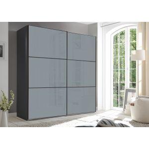 Includo Glas - 2 deurs schuifdeur kledingkast - compleet met interieur