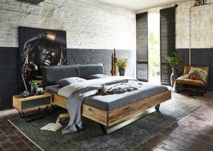 Modern Sleep - Massief geolied eiken met echt lederen hoofdbord