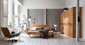 Modern Sleep - massief geolied eiken met houten hoofdbord