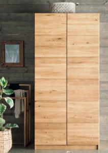 Massief houten draaideur kledingkast Completo - 2 deurs