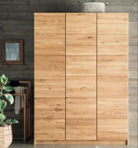 Massief houten draaideur kledingkast Completo - 3 deurs - 2 units