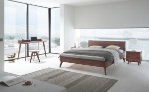 Fine-Line Notenhouten bed Syma / Masito / Vola