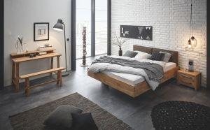 Oak-Vintage Massief eiken bed Cadro 23 / Vilo / Cena