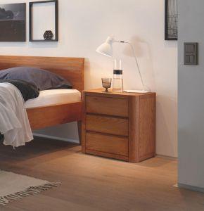 Oak-Line - 3 Laden nachtkastje - Massief eiken - Koro