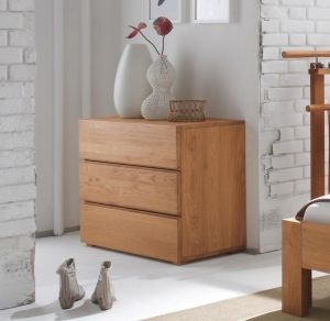 Oak-Line - 3 Laden commode - Massief eiken - Basso