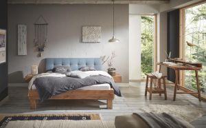 Oak-Vintage Massief eiken bed Cadro 18 / Ivio / Ronna