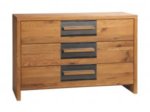 Oak-Wild - 3 Laden commode - Wild eiken - Cessa