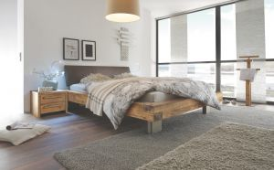 Oak-Vintage Massief eiken bed Bloc 16 / Quadra / Ripo