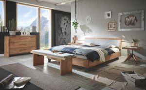 Oak-Vintage Massief eiken bed Cadro 18 / Jeno / Alpa / Arona