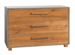 Oak-Wild - 3 Laden commode - Wild Eiken - Chest