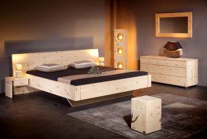 Massief alpenden houten bed Alpina