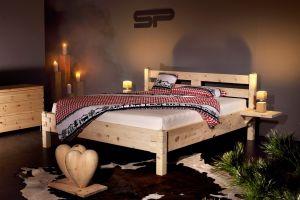Metaalvrij massief alpenden houten bed Montebello