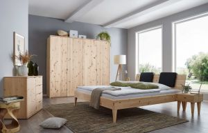 Massief alpenden houten bed Swisspine