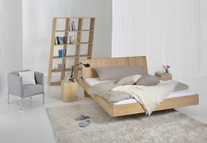 Massief chalked oak design bed Somnia