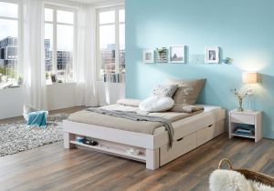 Ladenbed Cevio - Massief whitewash beuken