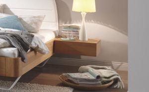 Oak-Bianco - 1 Laden nachtkastje - Massief eiken - Caja