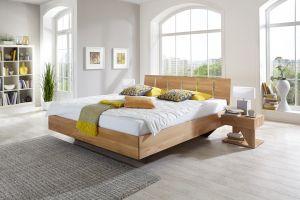 Cloud zweefbed - Massief houten bed in eiken of beuken