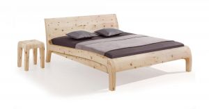 Massief alpenden houten bed Beluga