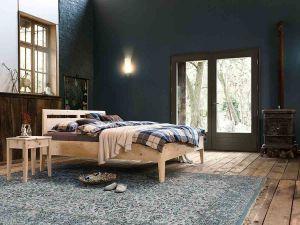 Metaalvrij-massief alpenden houten bed Kalmera