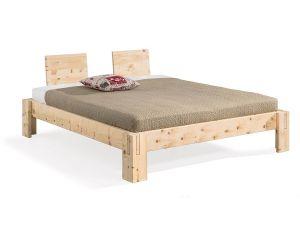 Metaalvrij-massief alpenden houten bed Nuevo-maxi