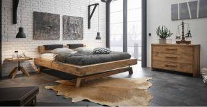 Oak-Vintage wildeiken bed Bloc 16 / Stabiel / Inca Nakio