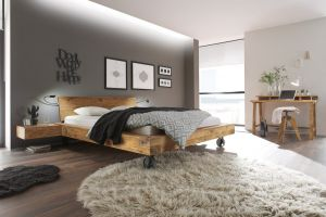 Oak-Vintage wildeiken bed Bloc 16 / Road / Sion