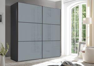 Schuifdeur kledingkast Includo - 2 deurs - Glas - Compleet interieur