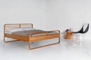 Lukas Plus bed met hoog voeteneinde - Europees geolied eikenhout