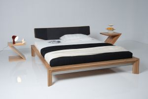 New York bed in Europees geolied eikenhout