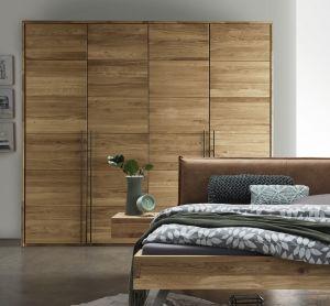Massief houten draaideur kledingkast Massivo - 4 deurs - 2 units