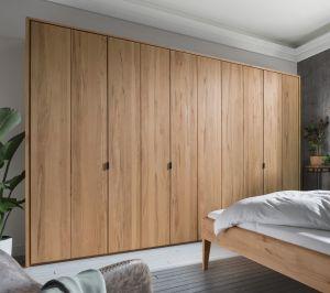 Massief houten draaideur kledingkast Massivo - 5 deurs - 3 units