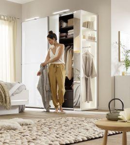 Schuifdeur kledingkast Marcato 2.2 - 2 deurs - glas - incl. buitenrek