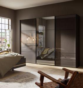 Schuifdeur kledingkast Marcato 2.3 - 3 deurs - Glas