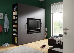 Draaideur kledingkast - Horizont 100 - 4 deurs - TV-element