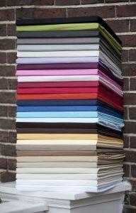 Split-topperhoeslaken - 100% Percal katoen - Kleur naar keuze!