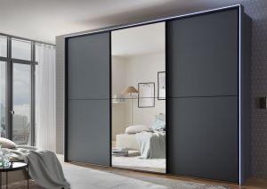 Schuifdeur kledingkast Satino - Linea - Mat glas - 3 deurs - 1 Deurlijst