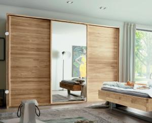 Massief houten zweefdeur kledingkast woodline - 3 deurs - 3 units