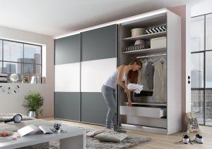 Schuifdeur kledingkast Includo - 3 deurs - Compleet interieur