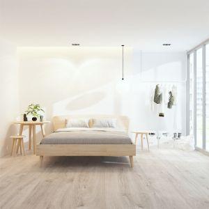 Massief chalked oak design bed Calor
