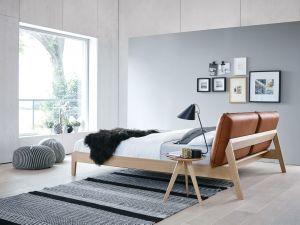 Design bed Alva - Eiken natuur