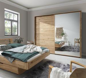 Massief houten zweefdeur kledingkast woodline - 2 deurs - 2 units
