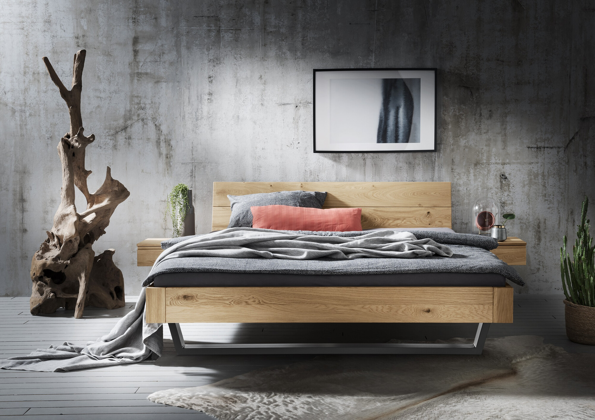Massief houten bedden